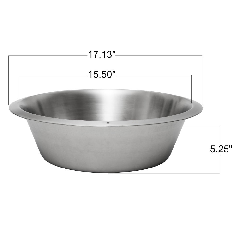 12qt Stainless Steel Flat Bottom Dish Pan