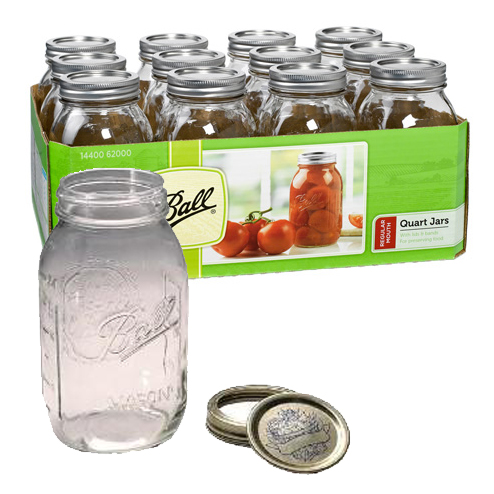 Jars - Regular Mouth Quart - Case of 12