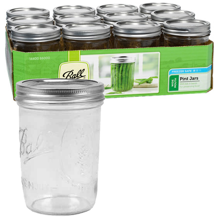 Jars - Wide Mouth Pint - Case of 12