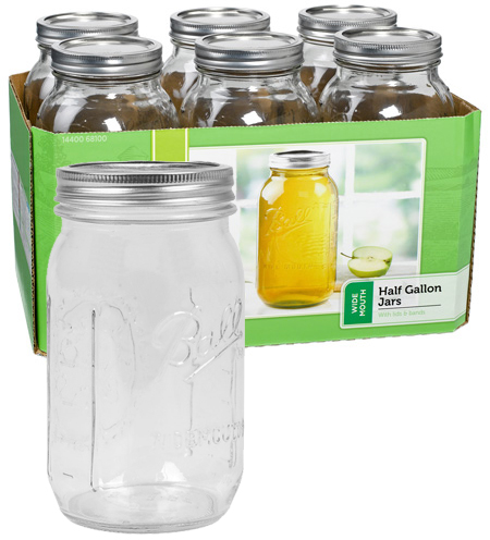 Jars - Wide Mouth 1/2 Gallon - Case of 6