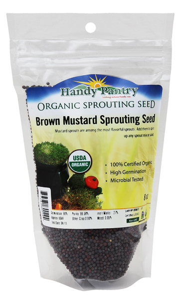 Brown Mustard Sprouting Seeds