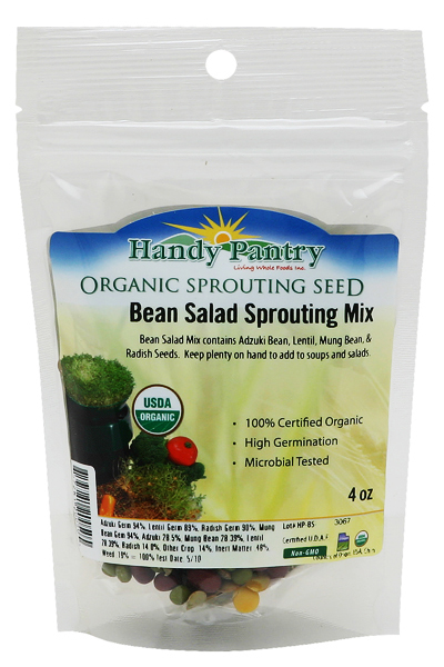 Bean Salad Sprouting Seeds Mix - 4oz