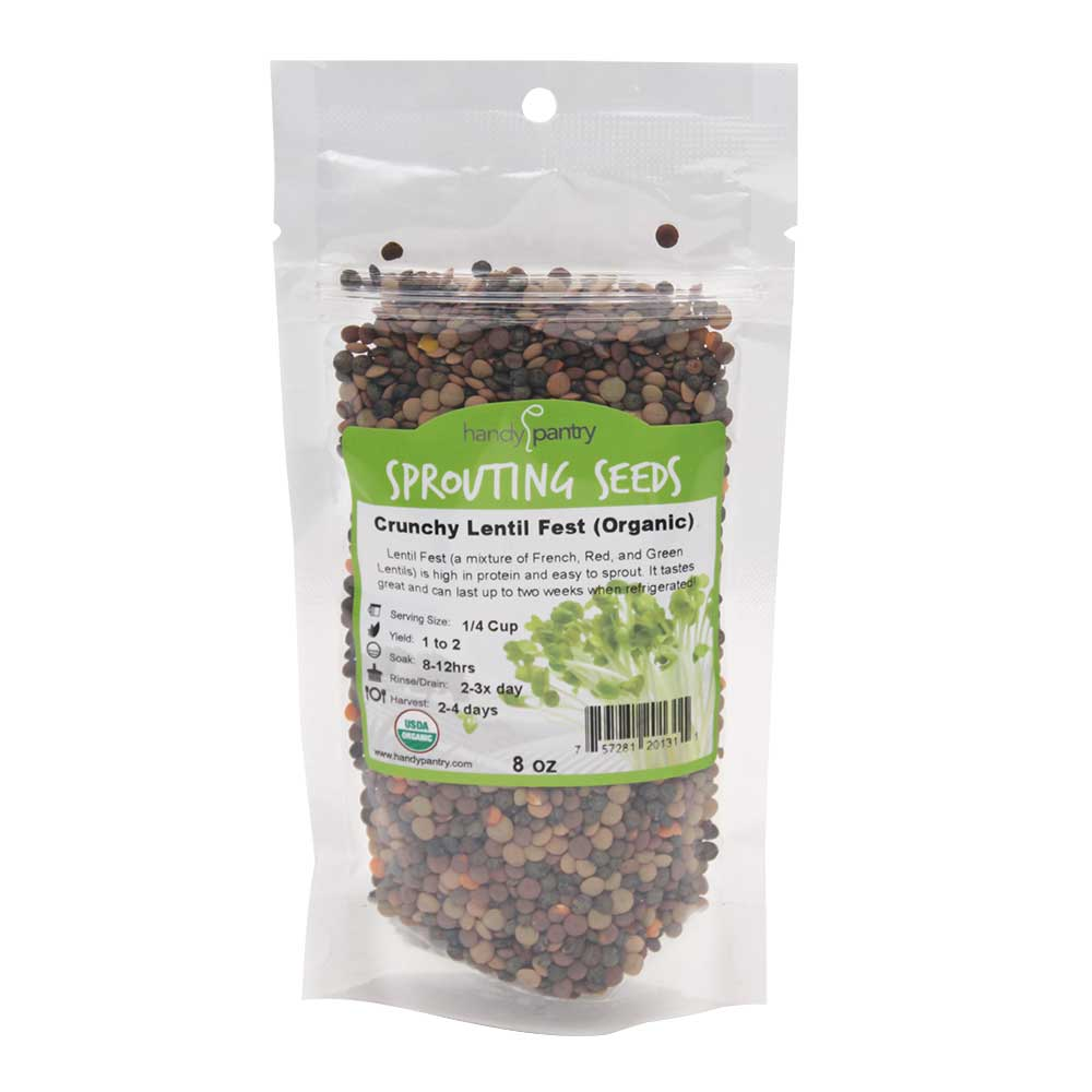 Crunchy Lentil Fest Sprouting Seeds - 8oz