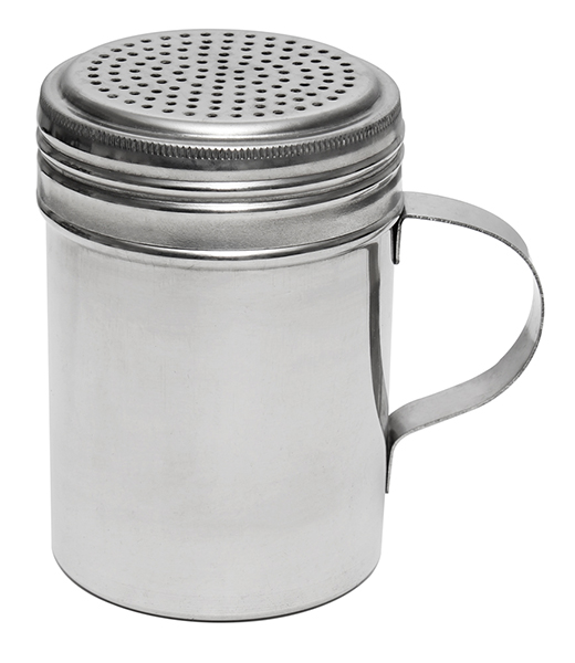 "Shaker w/ Handle 4"" x 2 3/4"" Stainless Steel"