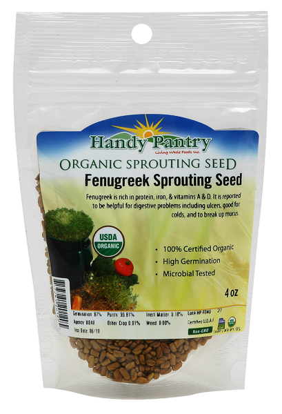 Fenugreek Sprouting Seeds - 4oz