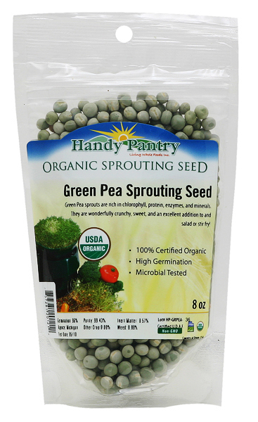 Green Pea Sprouting Seeds - 8oz