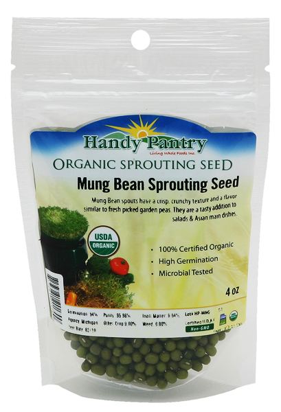 Mung Bean Sprouting Seeds - 4oz