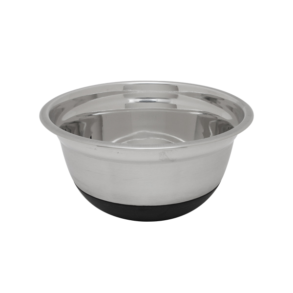 Stainless Steel Mixing Bowl with Rubber Base - 3qt