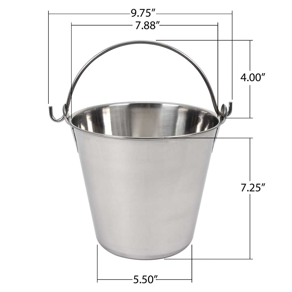 "LINDY""S 4-qt Stainless Steel Pail"