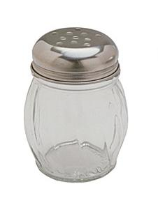 Glass Shaker w/ Stainless Steel Perforated Lid