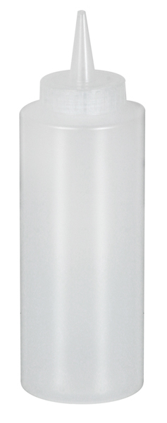 Clear Squeeze Dispenser Bottle 12 oz