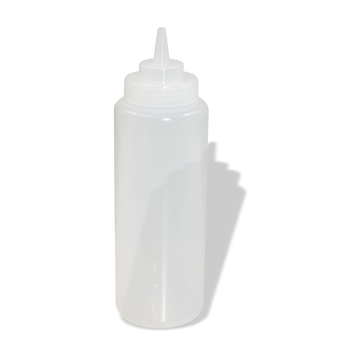 Clear Squeeze Dispenser Wide Mouth Bottle 32 OZ