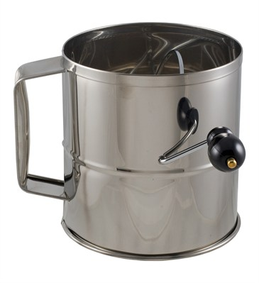 8 cup stainless steel flour sifter