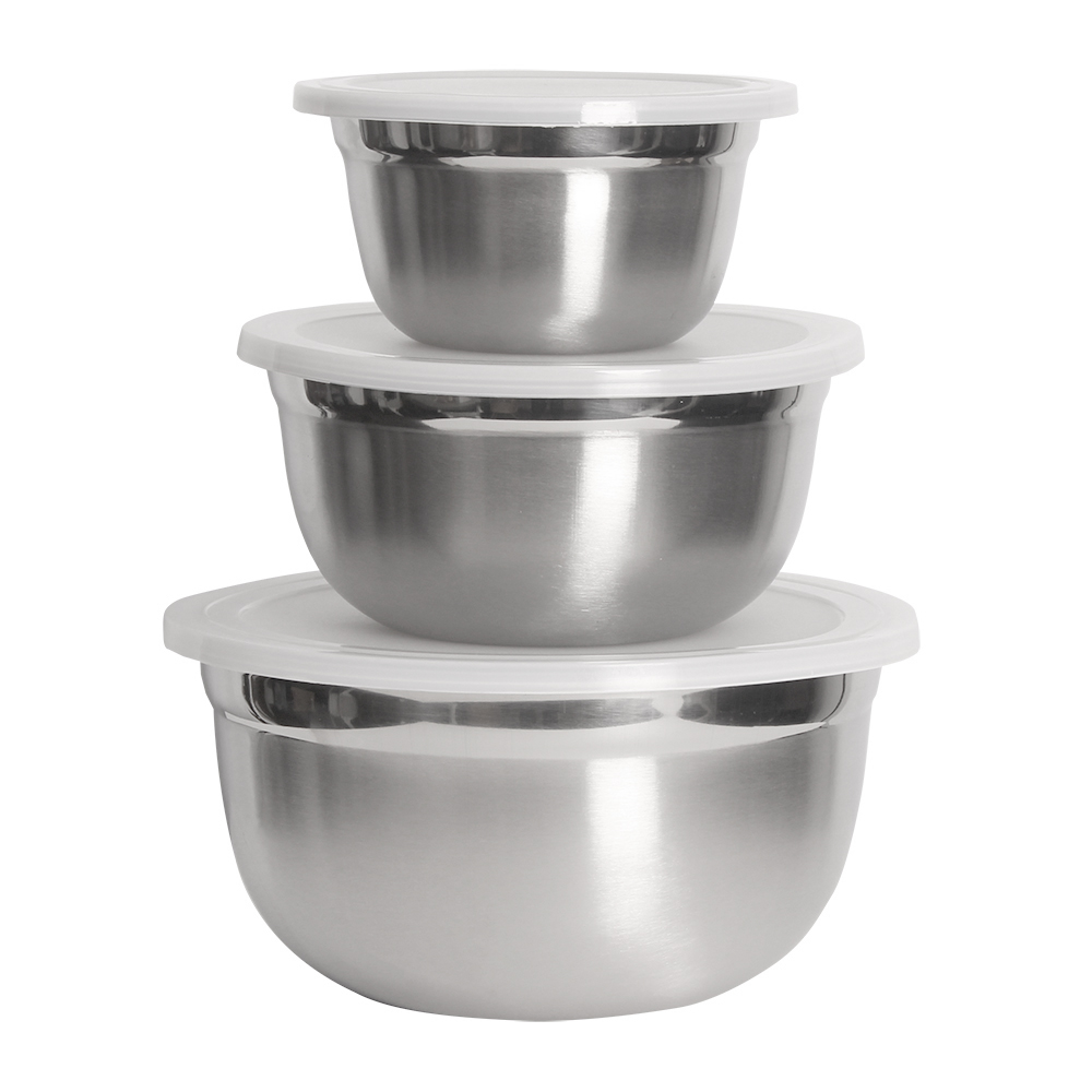Stainless Steel 3 PC Bowl Set